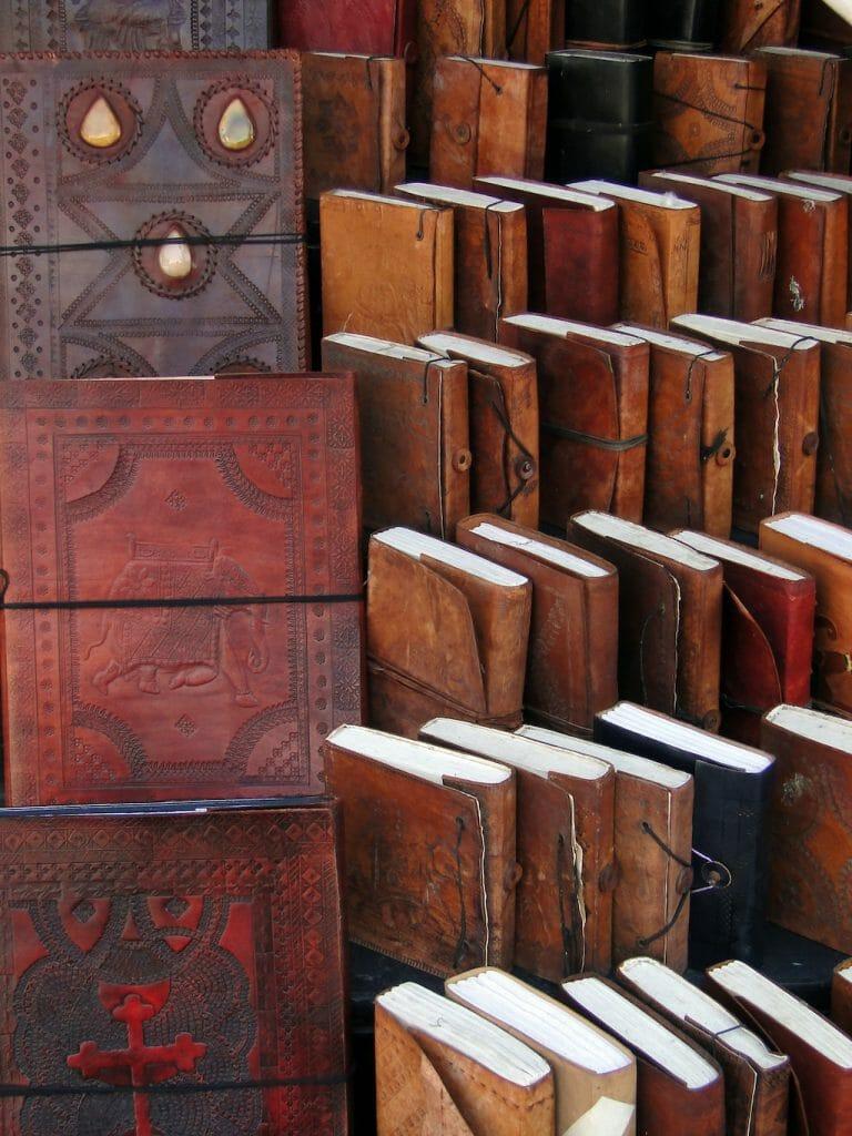 Handmade paper books and journals