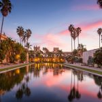 Casa De Balboa at sunset, Balboa Park, San Diego