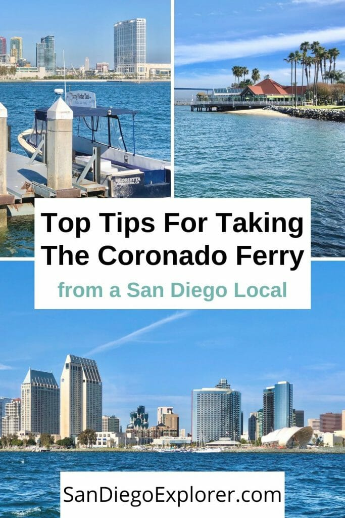 San Diego California: The Coronado - San Diego Ferry is a great way to get to Coronado island, enjoy spectacular views of San Diego & get a cheap mini-bay cruise. San Diego Things to do - San Diego Itinerary - San Diego Activities - San Diego Sights - Here are all the infos you need: Schedule, ticket prices, and top tips by a San Diego Local. #sandiegoexplorer #sandiegoitinerary #sandiegotrip #sandiegoca #california #travel #traveltips #californiatrip #sandiegogetaway #visitsandiego #Sandiegotips