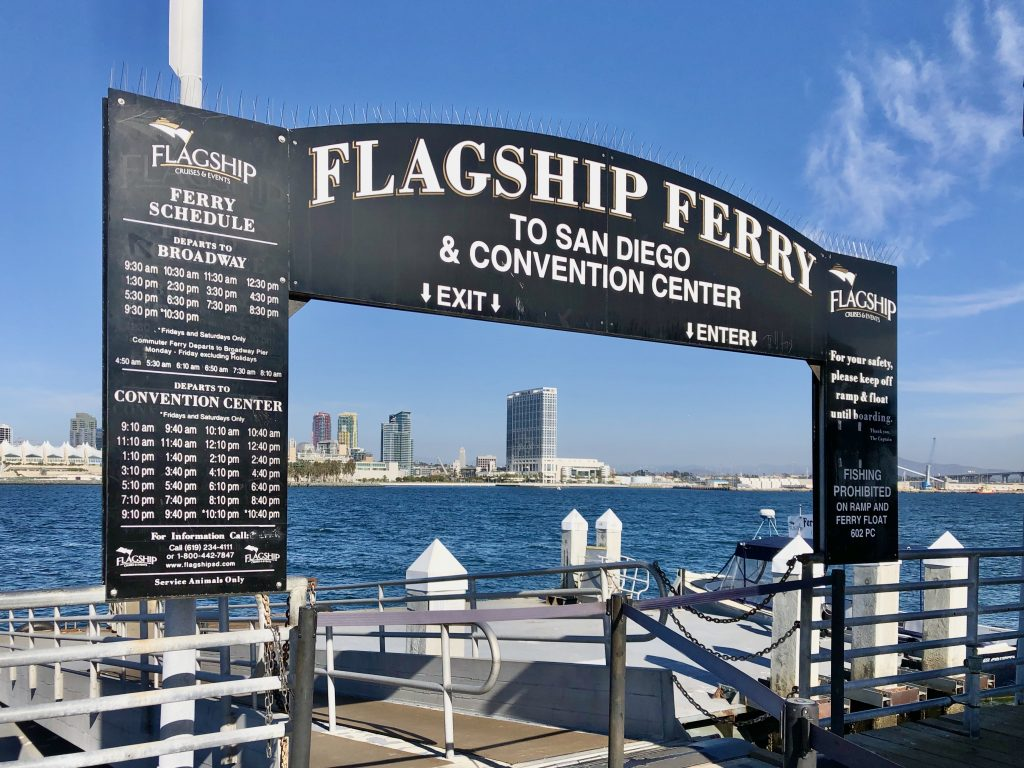 Flagship Entrance to Ferry Coronado Ferry Landing