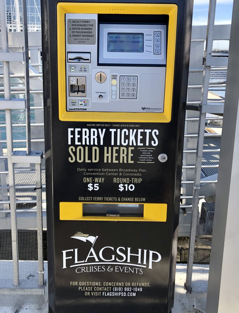 San Diego Ferry Tickets Machine