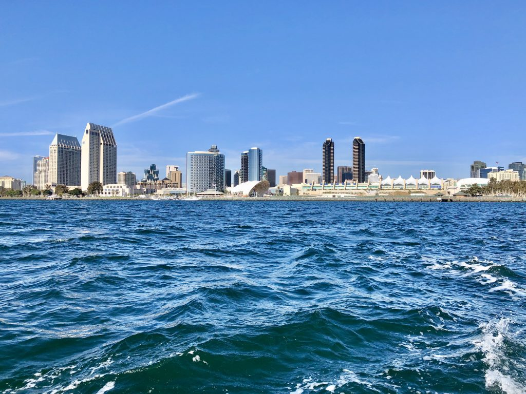 Skyline of San Diego from Coronado Ferry