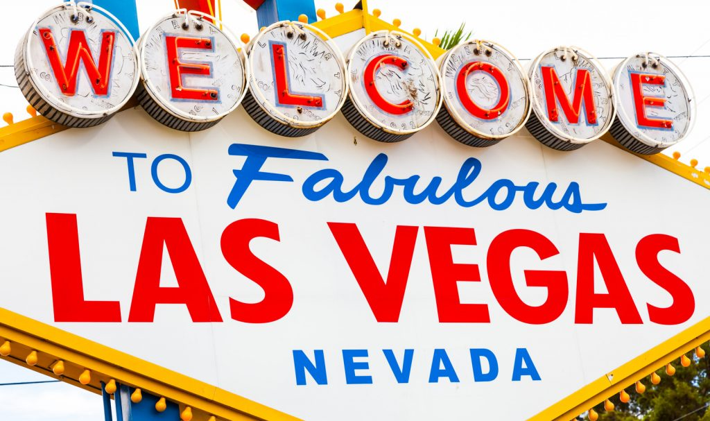 "Famouse ""Welcome to Fabulous Las Vegas Nevada"" Sign"