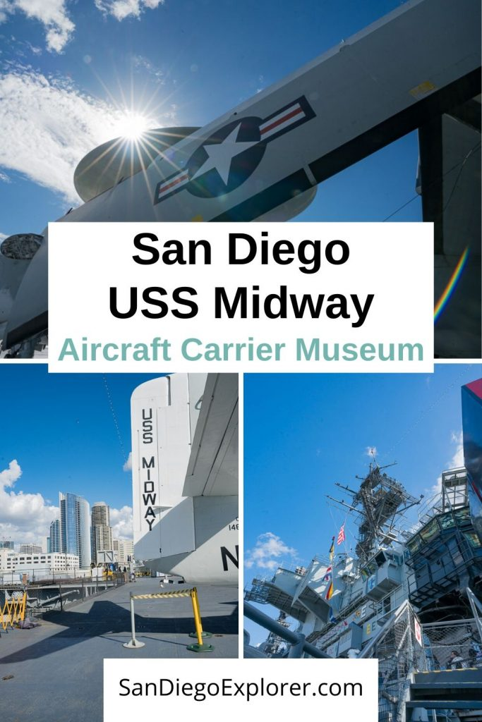 One of the Top Things to do in San Diego: Don't miss the USS Midway Museum. San Diego is a Military city and this Aircraft carrier is a must, if you are a history lover. Put it on your San Diego Itinerary now! #sandiego #sandiegoexplorer #california #sandiegotrip #sandiegomuseums #military #Navy #militaryhistory #visitsandiego San Diego Attractions - San Diego Things To Do - San Diego Museums