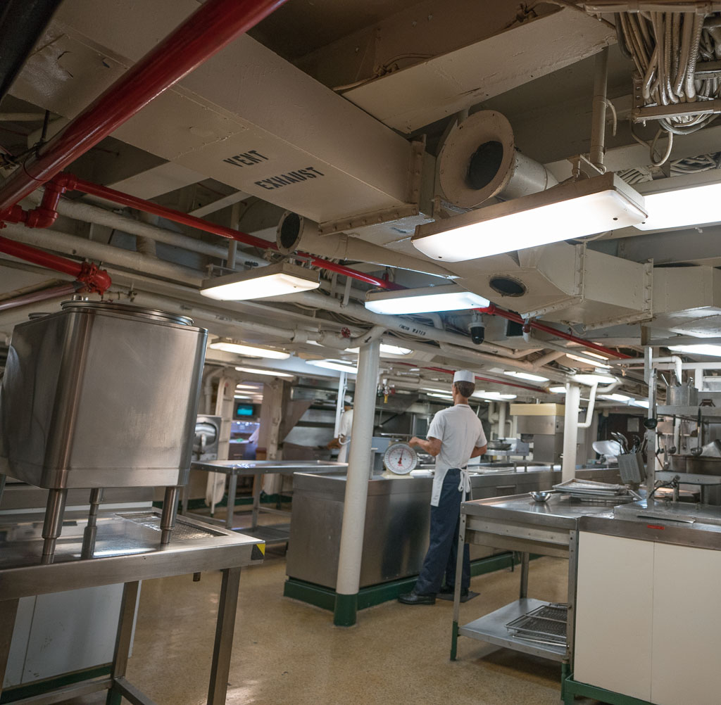 Galley on the aircraft carrier USS Midway