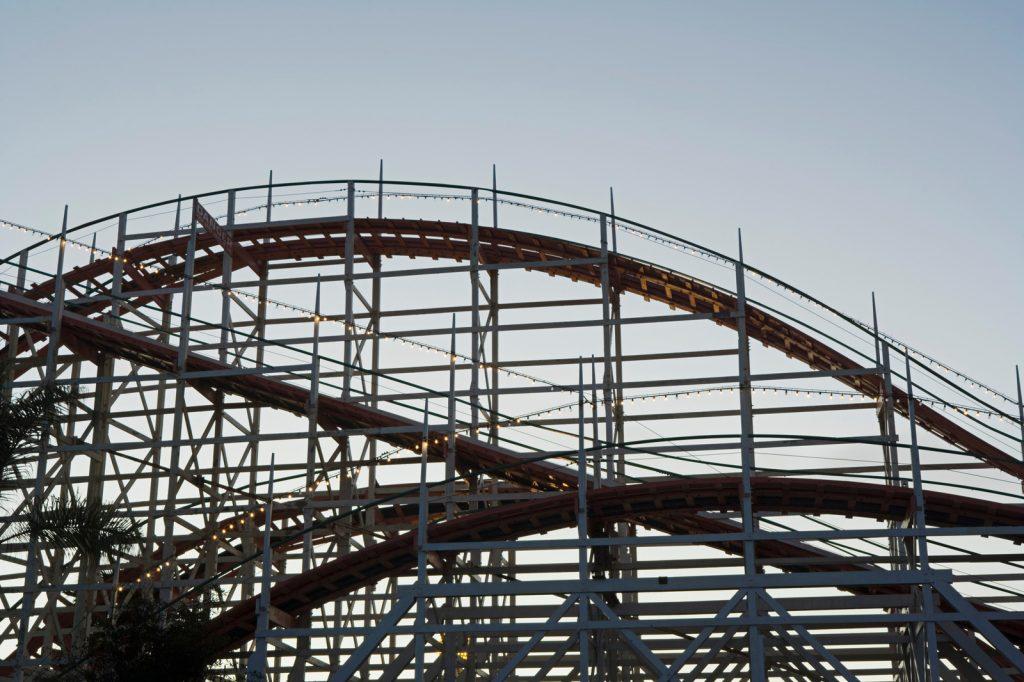 Big Dipper roller coaster, Belmont Park, San Diego