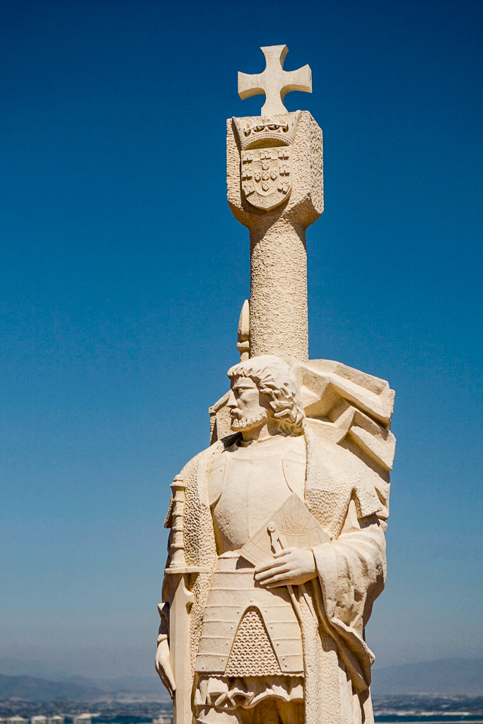 Low angle view of a sculpture, Cabrillo National Monument, San Diego, California, USA