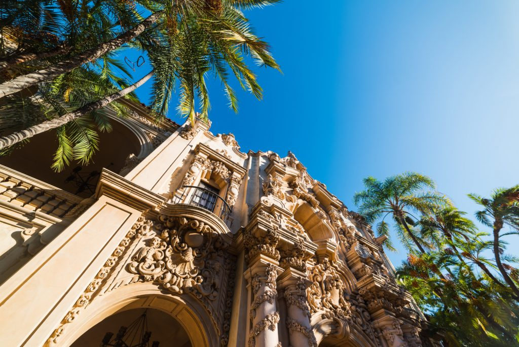 Weekend in San Diego - Casa del Prado in Balboa park, San Diego. California, USA