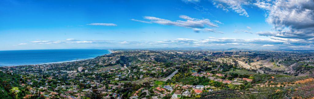 La Jolla California pano taken from Mt. Soledad - Best Views in San Diego