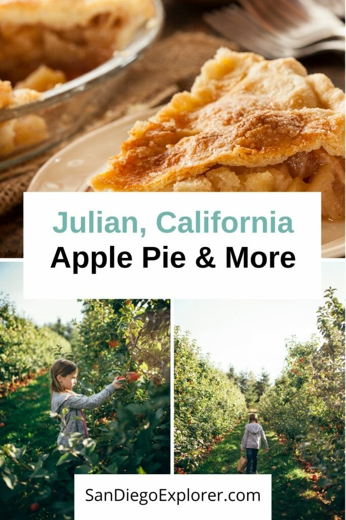 Julian Apple Pie is famous throughout Southern California and beyond and a trip to this little country town in Southern California is the perfect fall getaway. From apple picking to the obligatory apple pie tasting, there are lots of fun fall activities in Julian, California - San Diego Things to do in October - October in San Diego - Fall in San Diego - Julian California - Julian Apple Pie - Julian Apples - San Diego Getaway - San Diego day trip - Mining Town - Apple Orchards - Apple Harvest