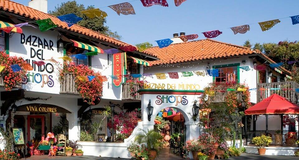 Colorful Mexican Market Square Bazaar del Mundo - Old Town San Diego
