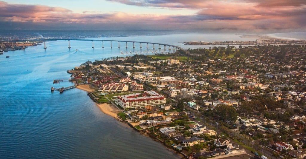 Aerial View of Coronado Island