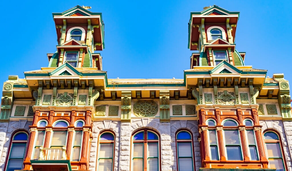Historic Victorian Buildings in the Gaslamp quarter