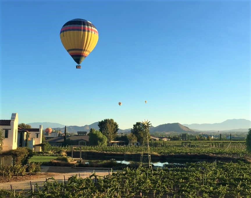 Hot Air Balloons from Ponte Vineyard Inn