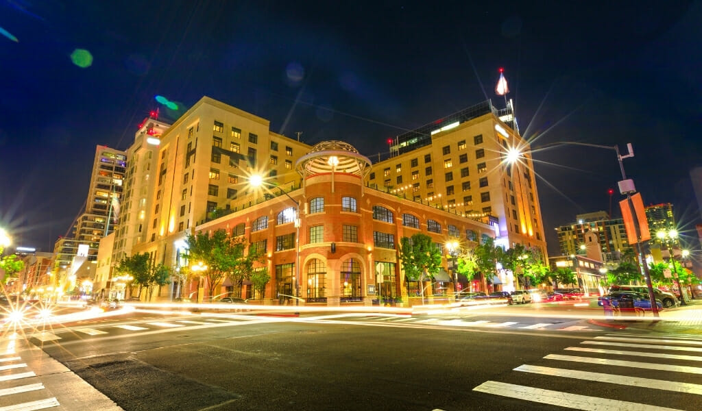 Hotel Solamar San Diego at night
