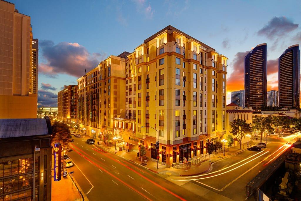 Outdoor shot of Residence Inn San Diego Downtown Gaslamp Quarter