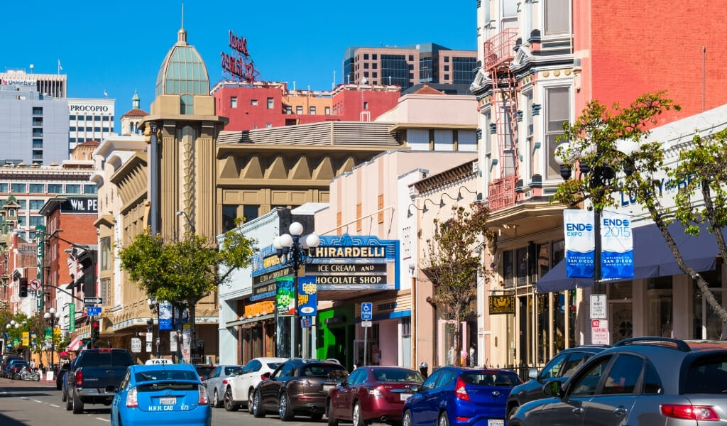 Historic buildings in the heart of the Gaslamp Quarter