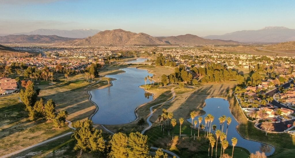 Aerial View of Temecula California