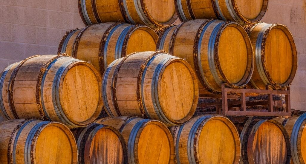 A Stack of Wine barrels in Temecula, California