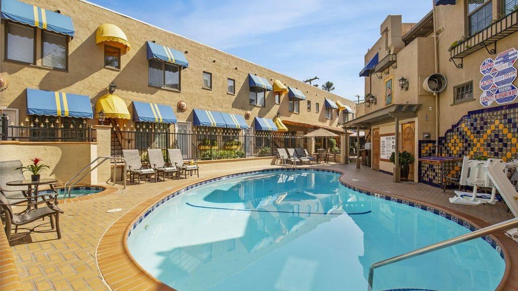 Pool in Courtyard at the El Cordova Hotel Coronado