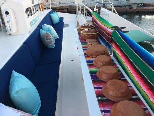 Mexican Buffet on board the Triton Catamaran Charter