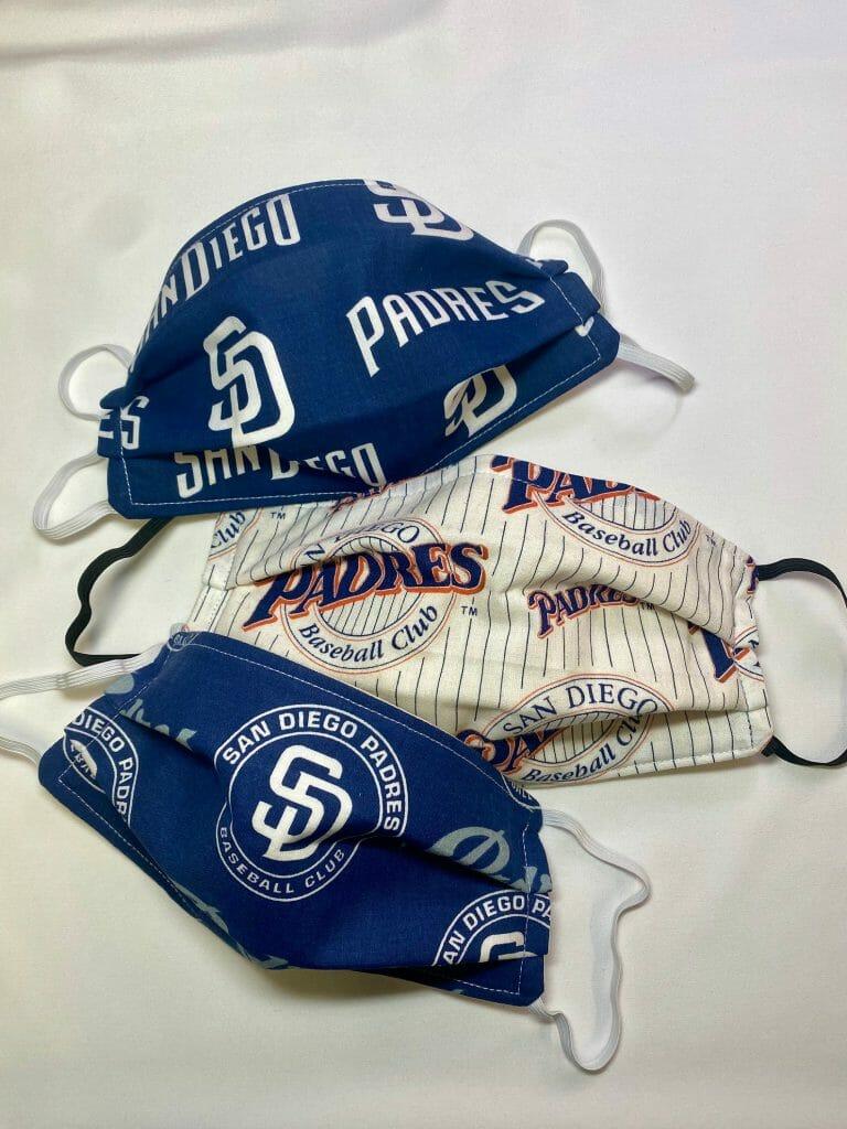 3 San Diego Padres Face Masks