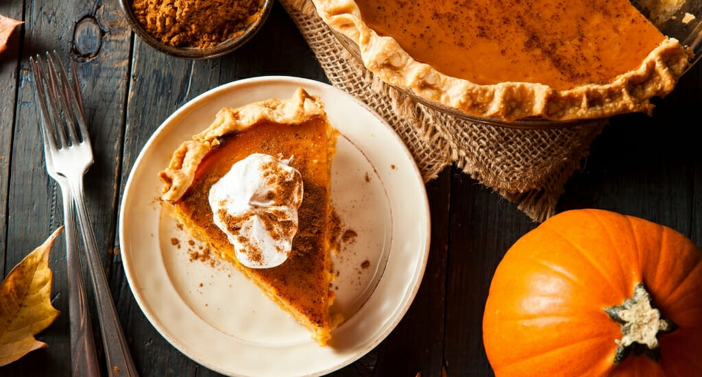 Flatley photo of table with pumpkin pie
