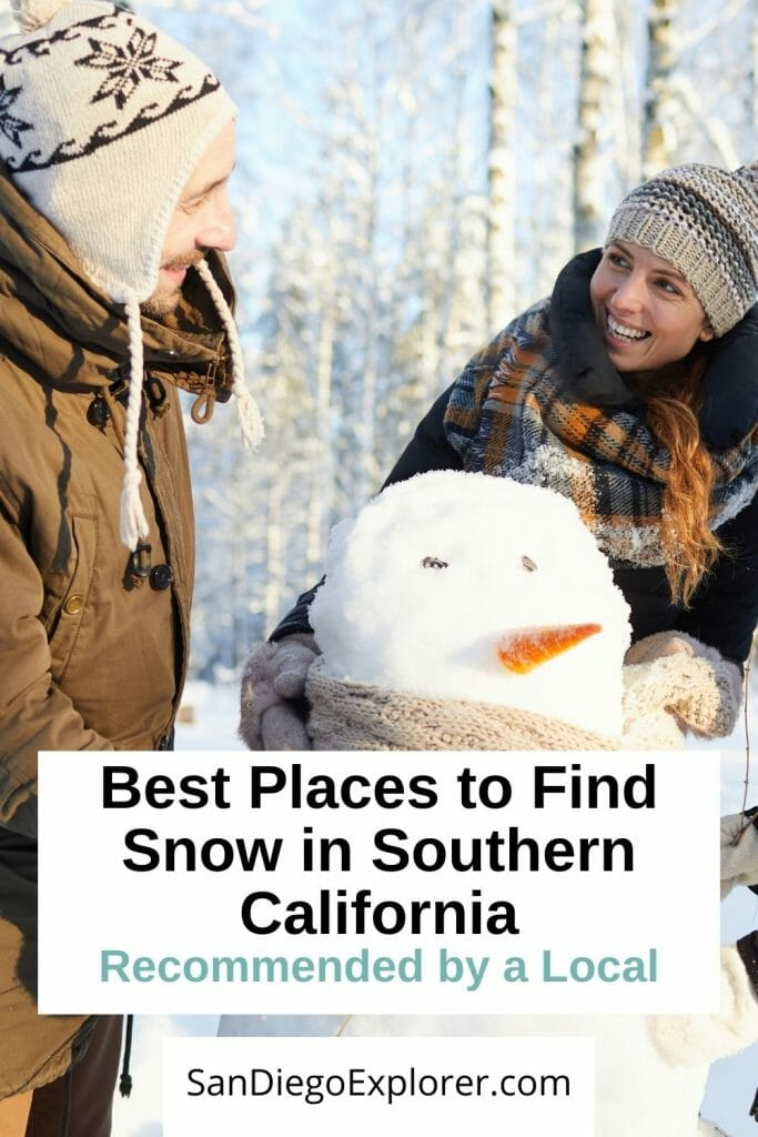 Does it snow in San Diego? Here are the best places to experience snow in Southern California and get your winter wonderland fix. San Diego Winter - San Diego Snow - Southern California Snow - Winter in San Diego - Winter in Southern California - Day Trips from San Diego in Winter - Things to do in San Diego in Winter