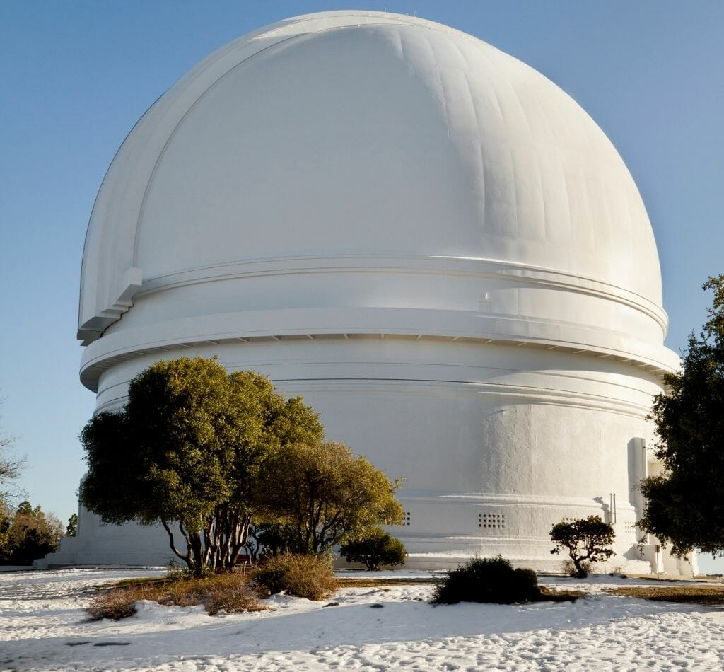 Palomar Observatory Snow in San Diego