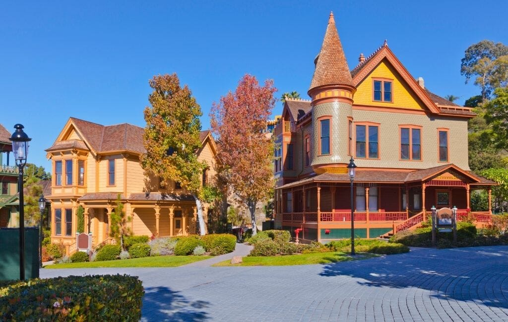 Victorian Houses Old Town San Diego California