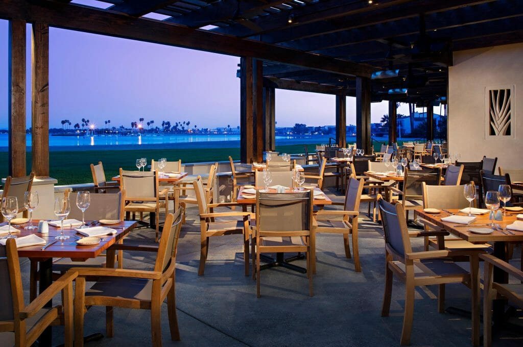 Outdoor patio of Oceana Coastal Kitchen San Diego Outdoor Restaurants