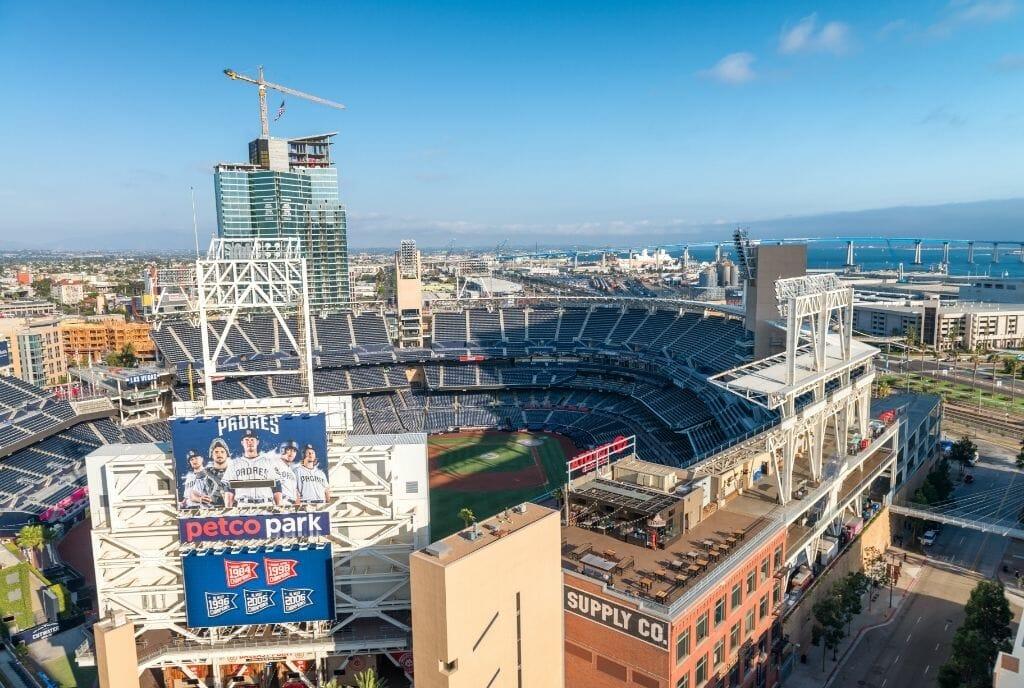 Aerial View of Petco Park San Diego - Padres Stadium