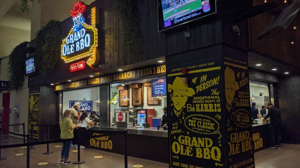 Grand Ole BBQ food stand at Petco Park Food