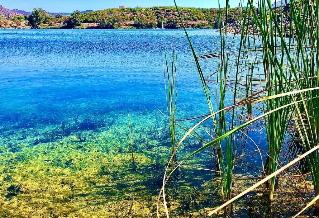 clear blue/green lake reservoir Lake Jennings San Diego