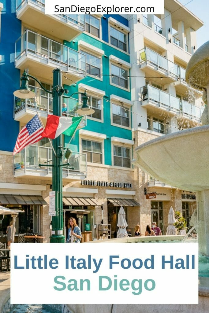 Looking for a fun foodie experience or can't decide what you want? How about a trip to Little Italy Food Hall? 7 tasty food stations to try - perfect when everyone wants something different! San Diego Restaurants - Best restaurants in San Diego - Little Italy San Diego - Best food in San Diego - San Diego Food