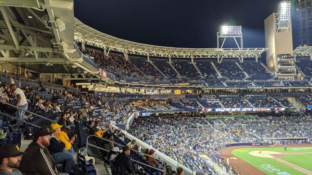 Petco Park Padres Ball Game at night