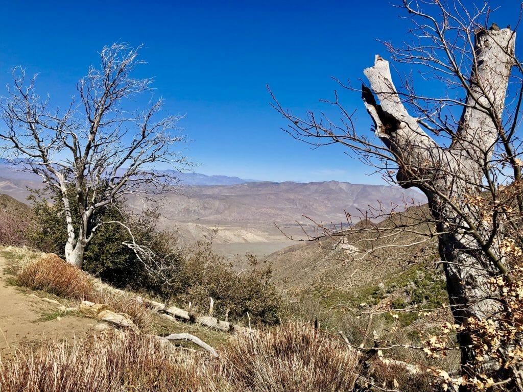 Desert landscape photo on Sunrise Highway near Julian California