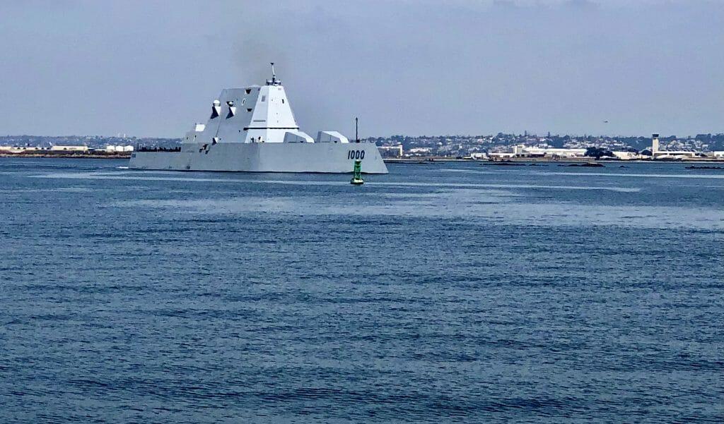 Navy Ship leaving Coronado Navy Base