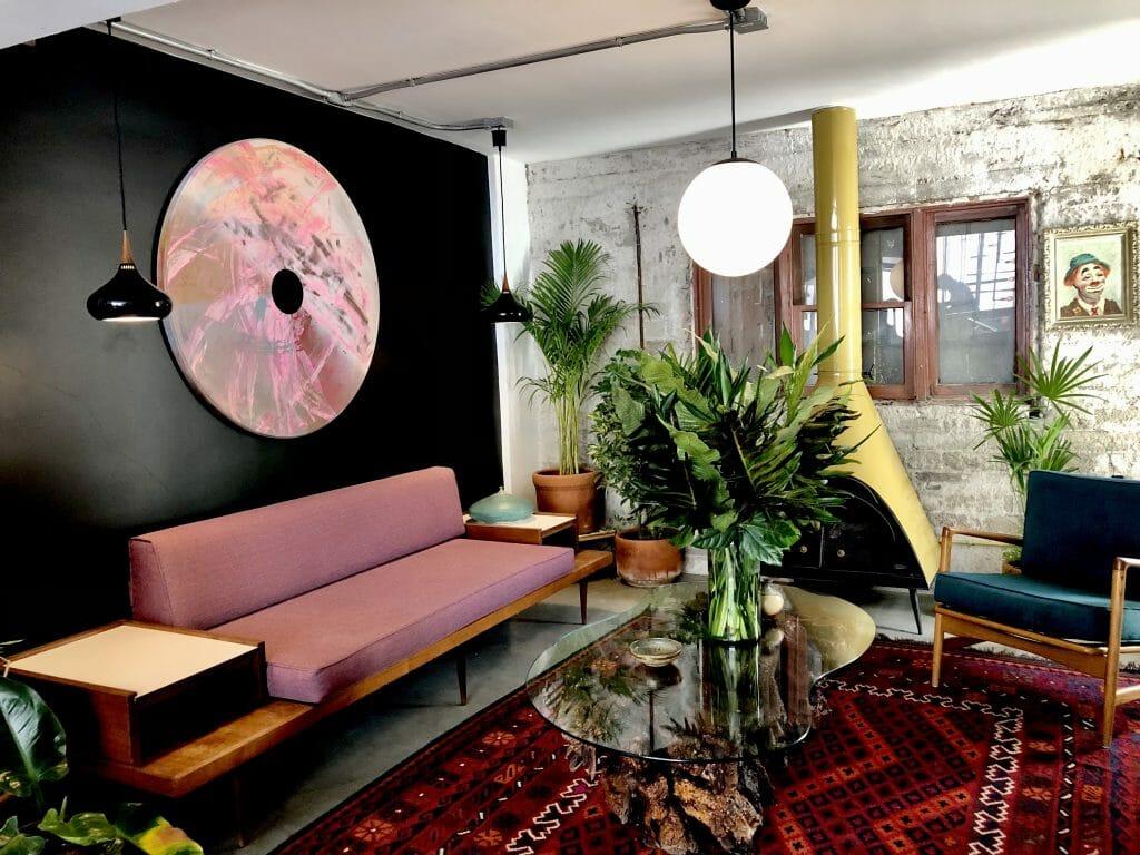 Midcentury modern design Lobby Lafayette Hotel Tijuana