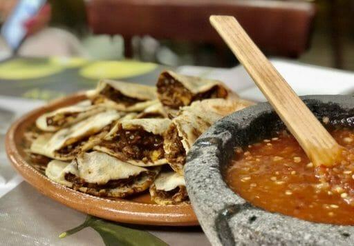 Mole Groditas with fresh salsa