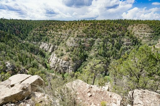 View of Walnut Canyon National Monument Rim Trail