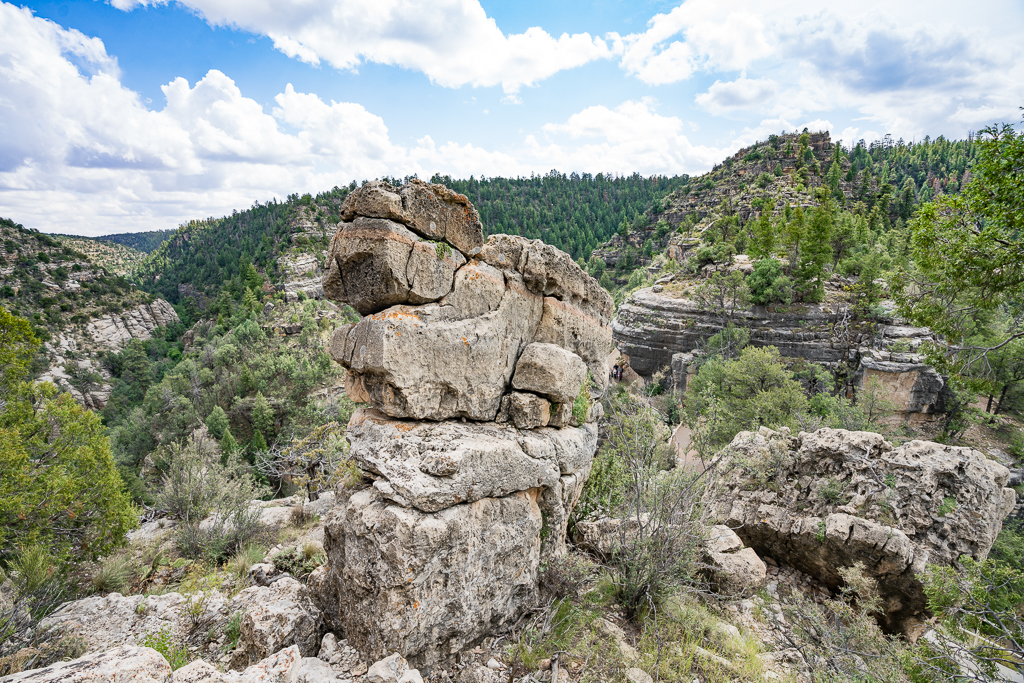 Rock formation at Walnut Canyon National Monument Island Trail