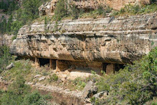 Cave dwellings at Walnut Canyon National Monument Island Trail