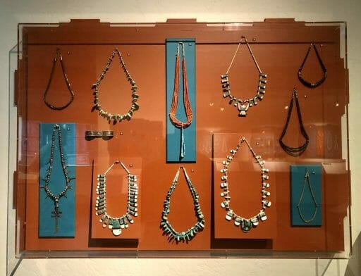 Silver and Turquoise jewelry at the Museum of northern arizona